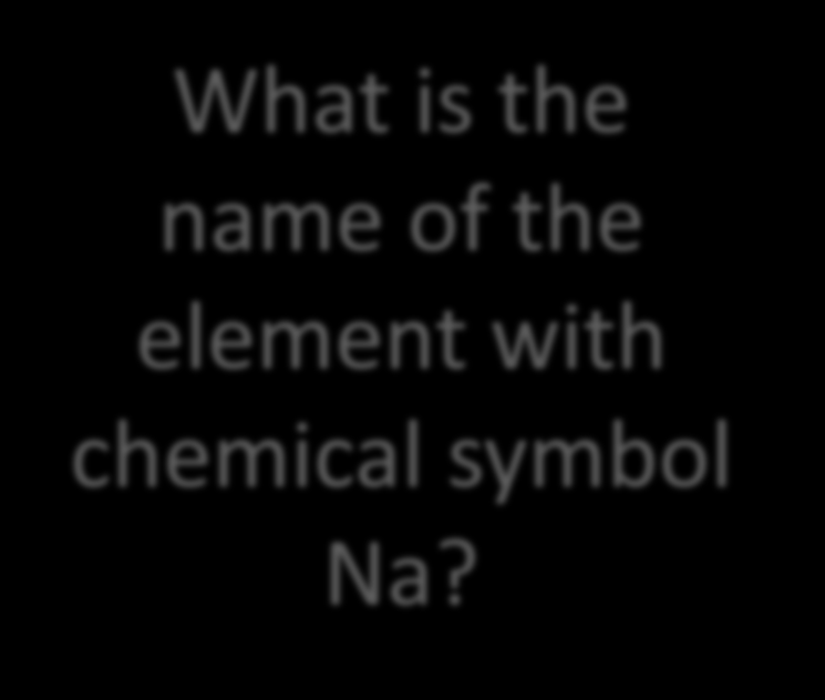 What is the name of the element