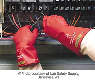 Electrical Hazard Protections Cont. Hand protection Rubber insulating gloves.