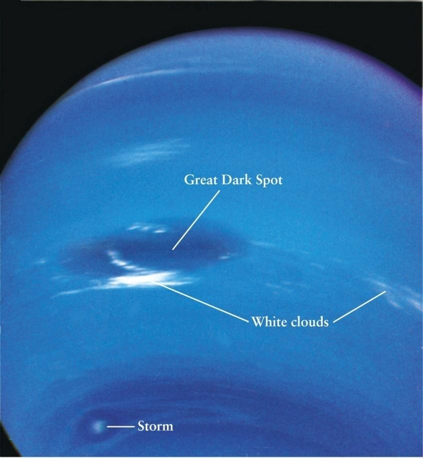 Neptune s Atmosphere Ultraviolet images reveal a band-like structure similar to Jupiter and Saturn. But it is really cold out here.