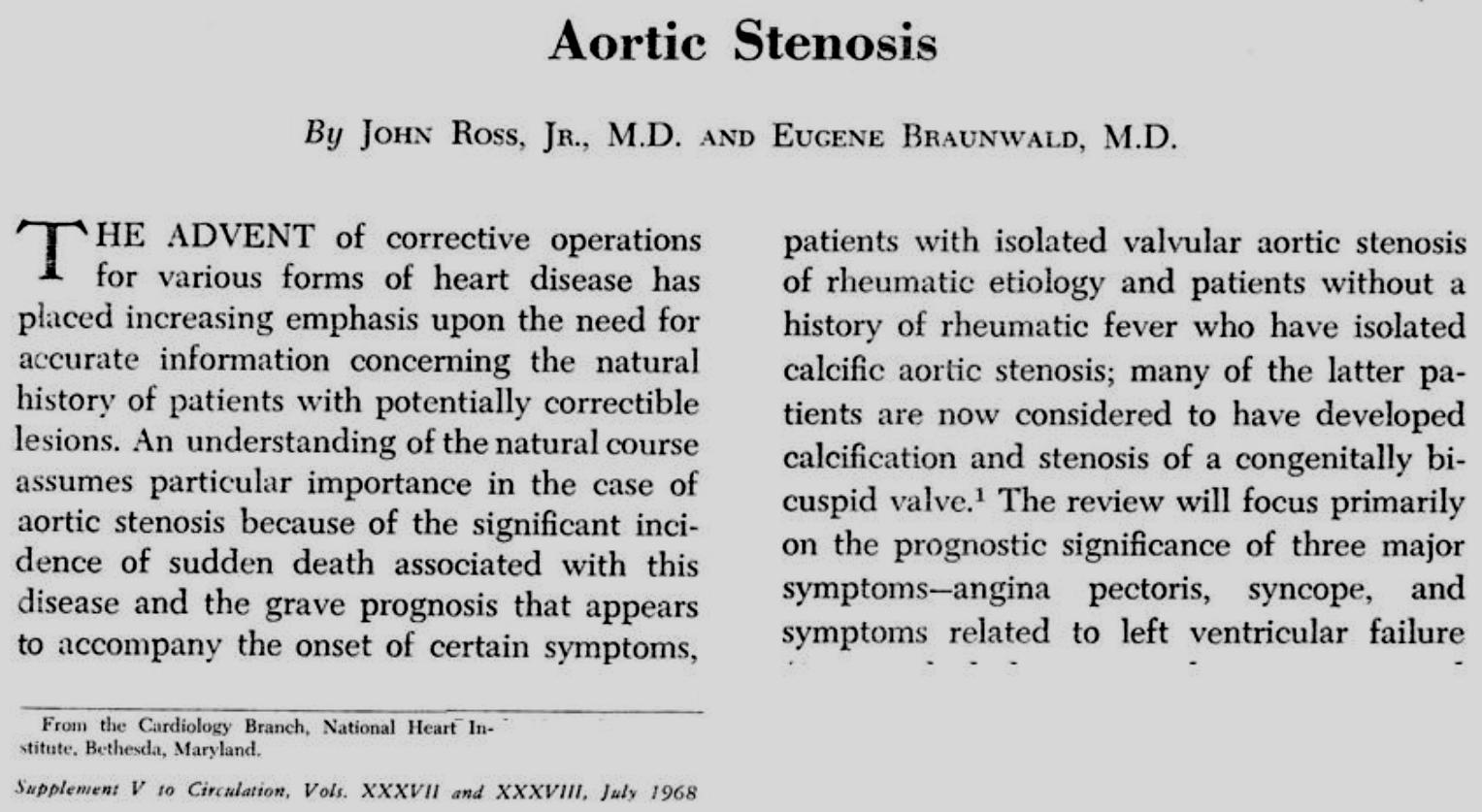 Survival (percent) Natural History of Aortic Stenosis 100 Latent Period 80 60 Increasing obstruction, myocardial overload