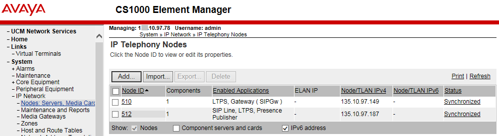 5.1 Administer SIP Line Node It is assumed that SIP Line Node has been setup and in operational state.