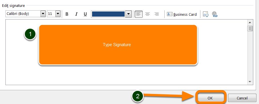 Under Choose default signature, in the E-mail account list >> Select an email account to associate with the signature Under Select signature to edit >> Click New Type a name for the signature, Under
