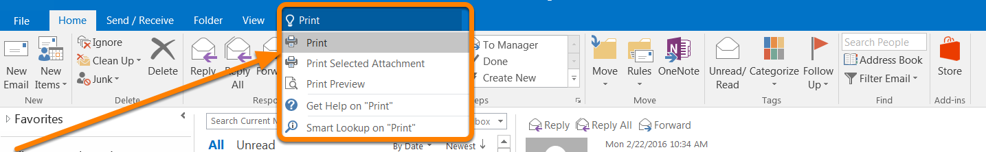 Tell Me Outlook 2016 (Windows) - Tell Me Tell Me brings features saves you the time you would normally use to look for a specific function on the Ribbon.