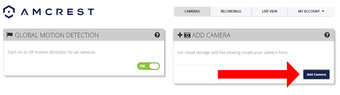 Amcrest Cloud Setup The Amcrest PT Network Camera is able to sync with Amcrest Cloud; a service that stores recorded video and audio streams in order to enable long-term storage.
