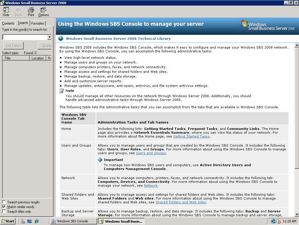 Installation of Windows Small Business Server 2008 18 3. If prompted to activate Windows Live OneCare, close message. 4.