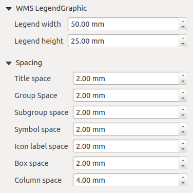 Рис. 18.17: Legend Fonts, Columns, Symbol and Spacing Dialogs The Split layers option allows a categorized or a graduated layer legend to be divided between columns.