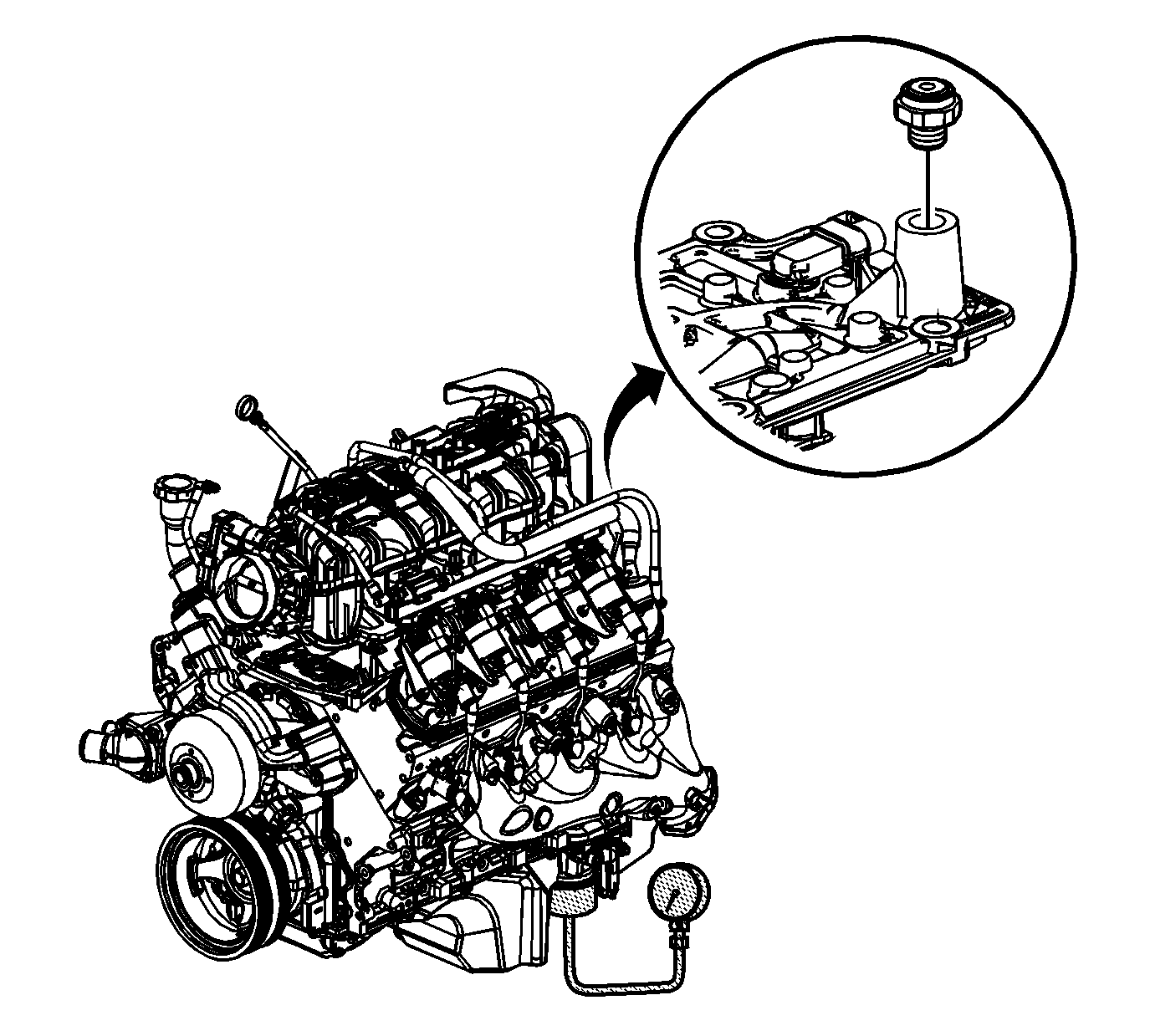 Fig 2: View Of Oil Pressure Sensor Courtesy of GENERAL MOTORS CORP. 4.