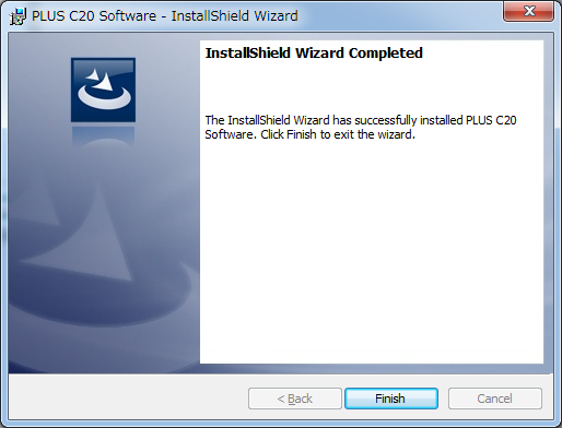 Installation of the Software Click Finish. The Installer Information Dialog Box will be displayed. Click Yes and restart the personal computer.