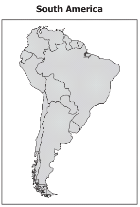 29 Which South American country does NOT border