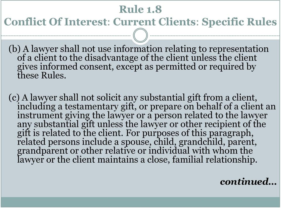 informed consent, except as permitted or required by these Rules.