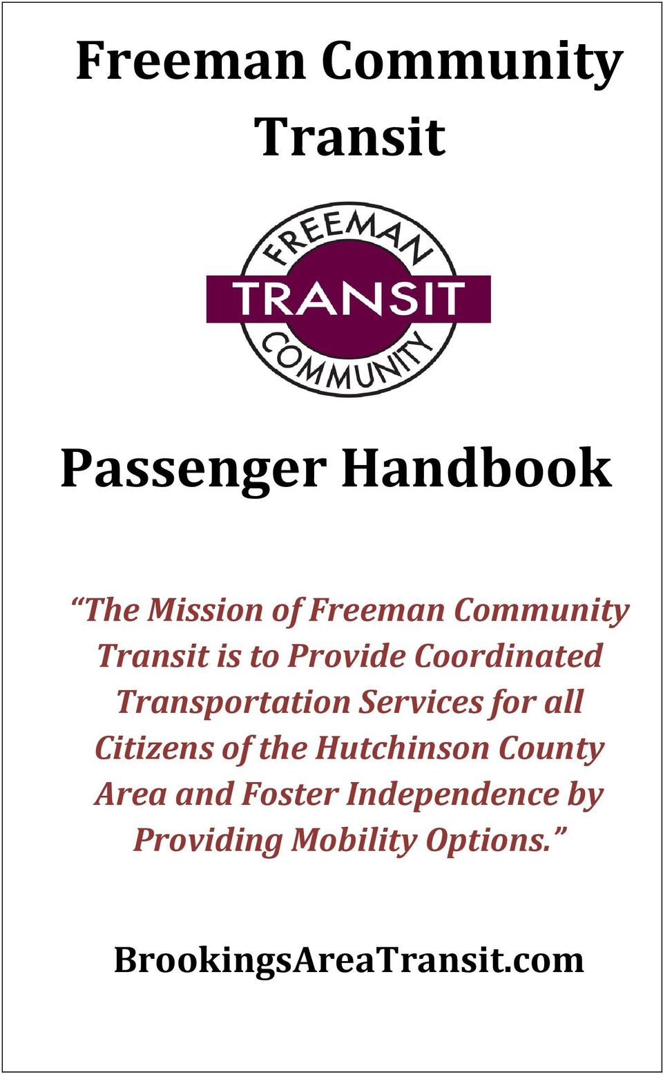 Transportation Services for all Citizens of the Hutchinson County