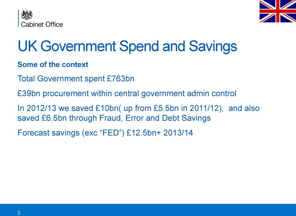 2012/13 we saved 10bn( up from 5.5bn in 2011/12), and also saved 6.