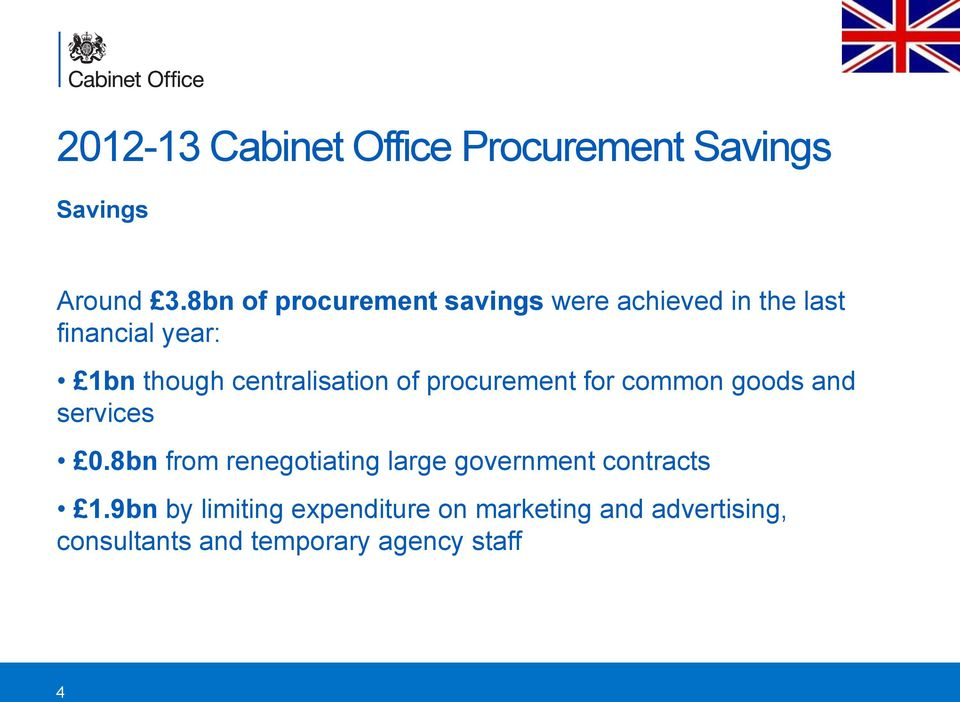 centralisation of procurement for common goods and services 0.