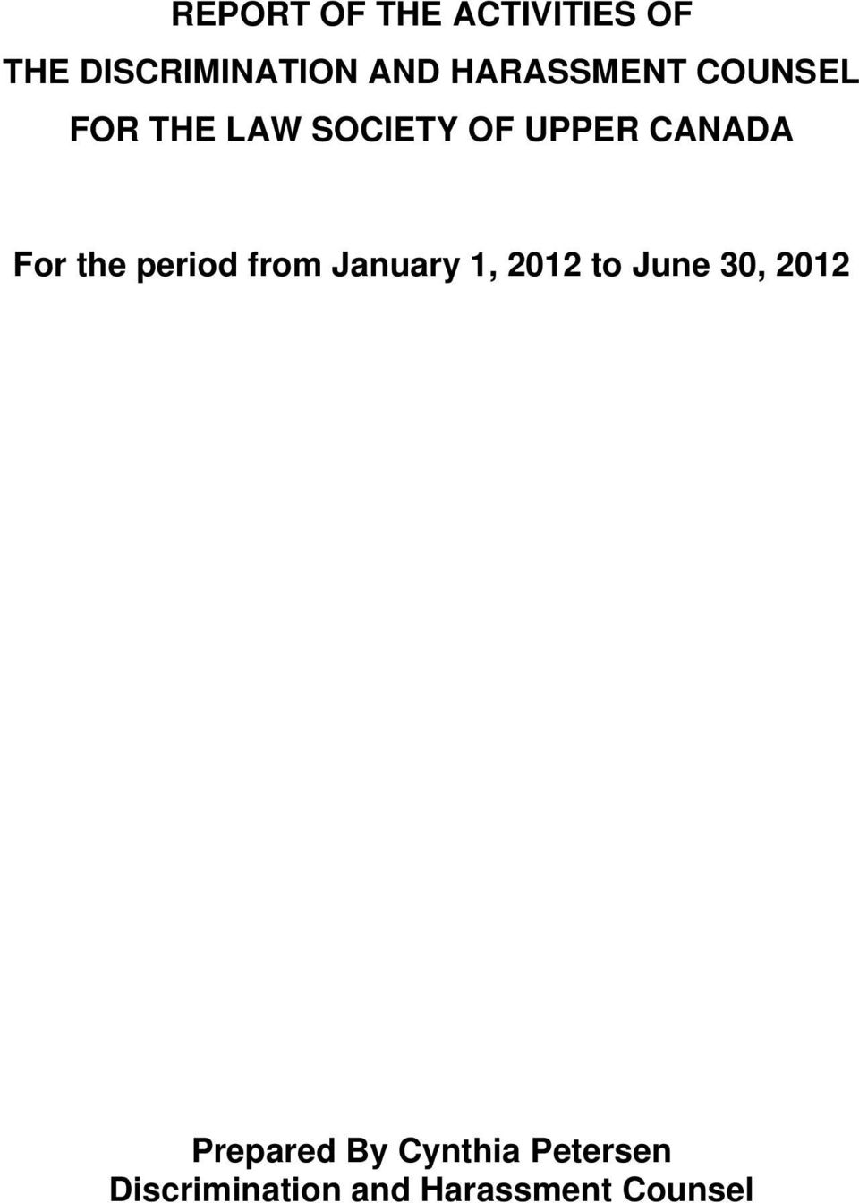 For the period from January 1, 2012 to June 30, 2012