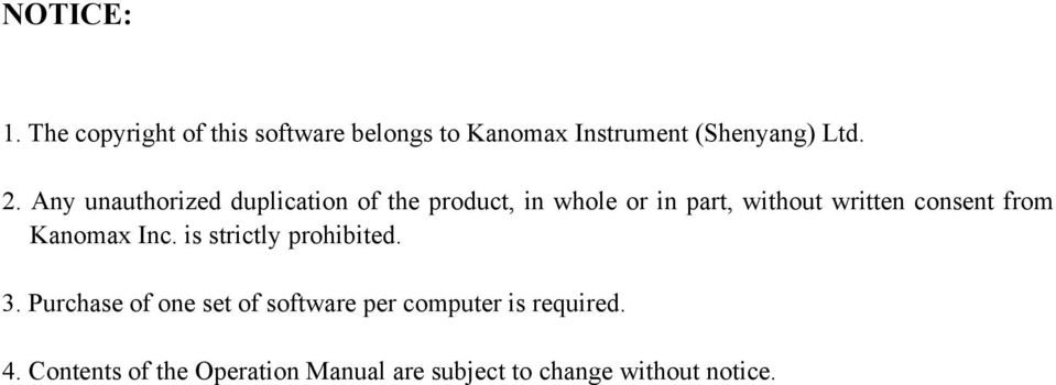 from Kanomax Inc. is strictly prohibited. 3.