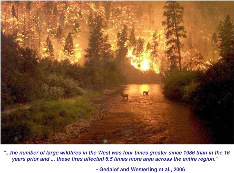 and... these fires affected 6.