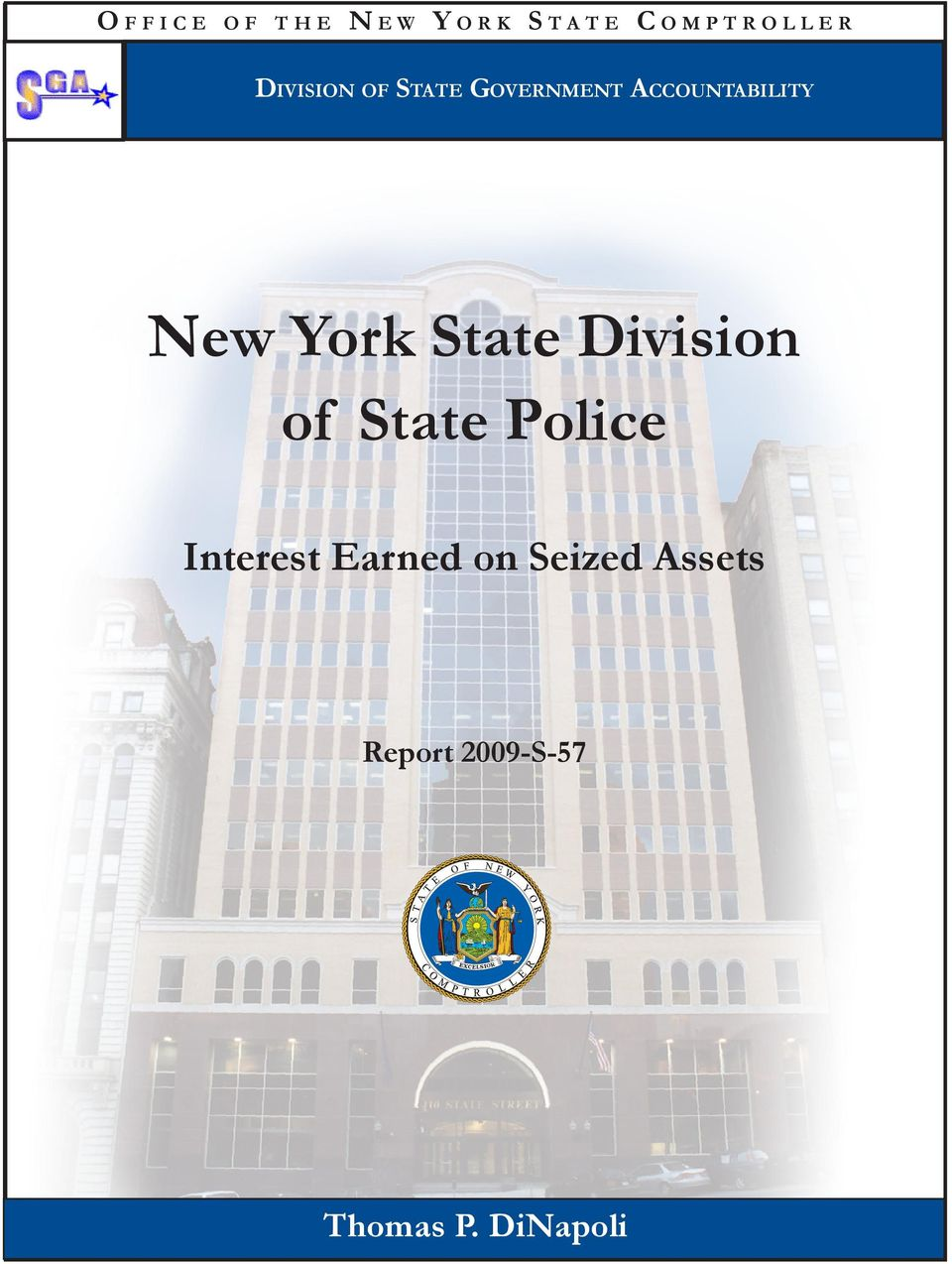 Accountability New York State Division of State Police