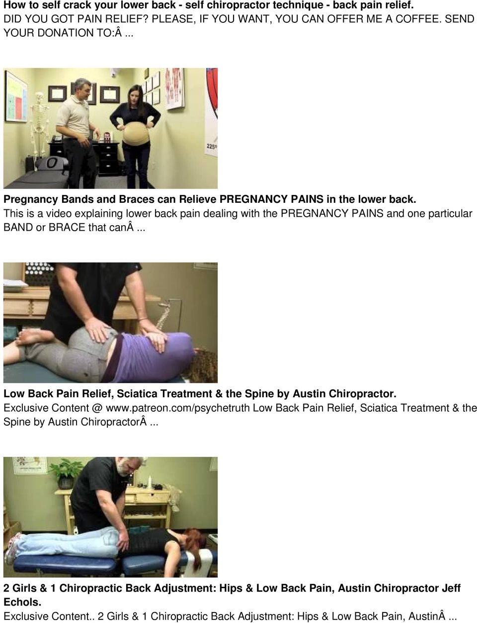 This is a video explaining lower back pain dealing with the PREGNANCY PAINS and one particular BAND or BRACE that canâ.