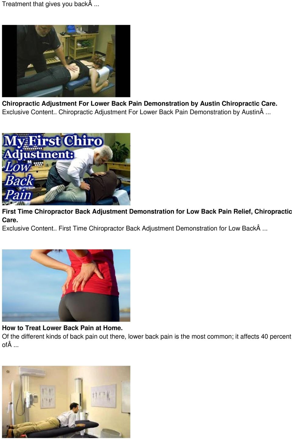.. First Time Chiropractor Back Adjustment Demonstration for Low Back Pain Relief, Chiropractic Care. Exclusive Content.