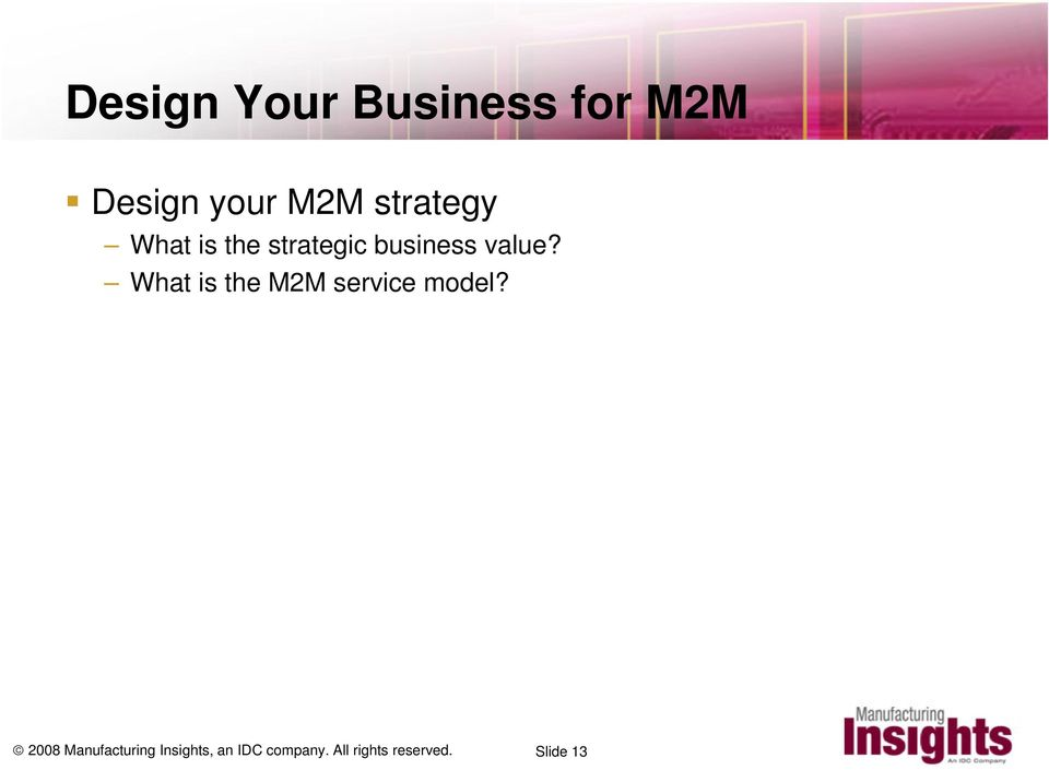 What is the M2M service model?