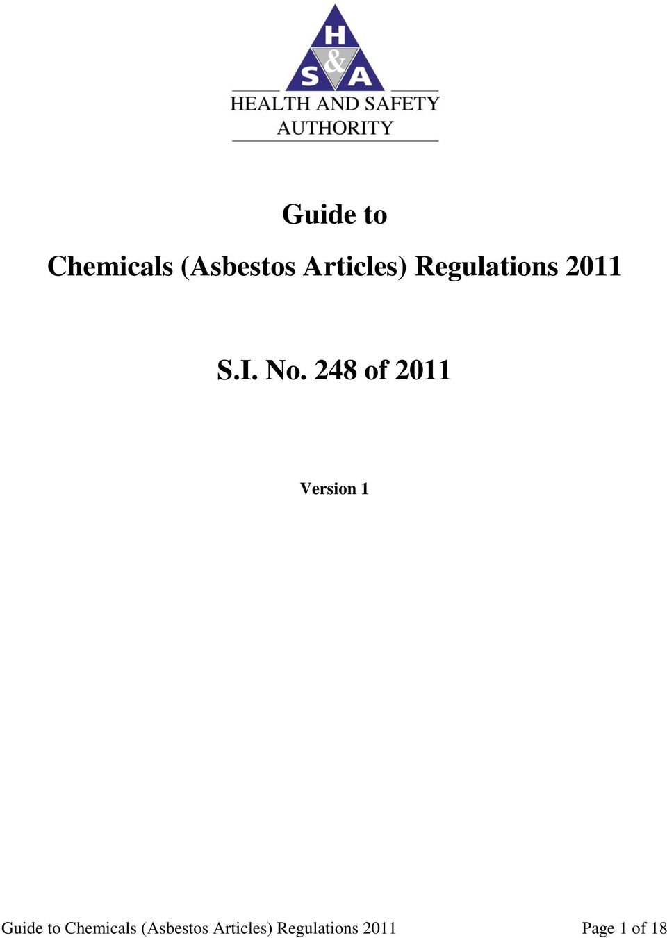 248 of 2011 Version 1  Regulations