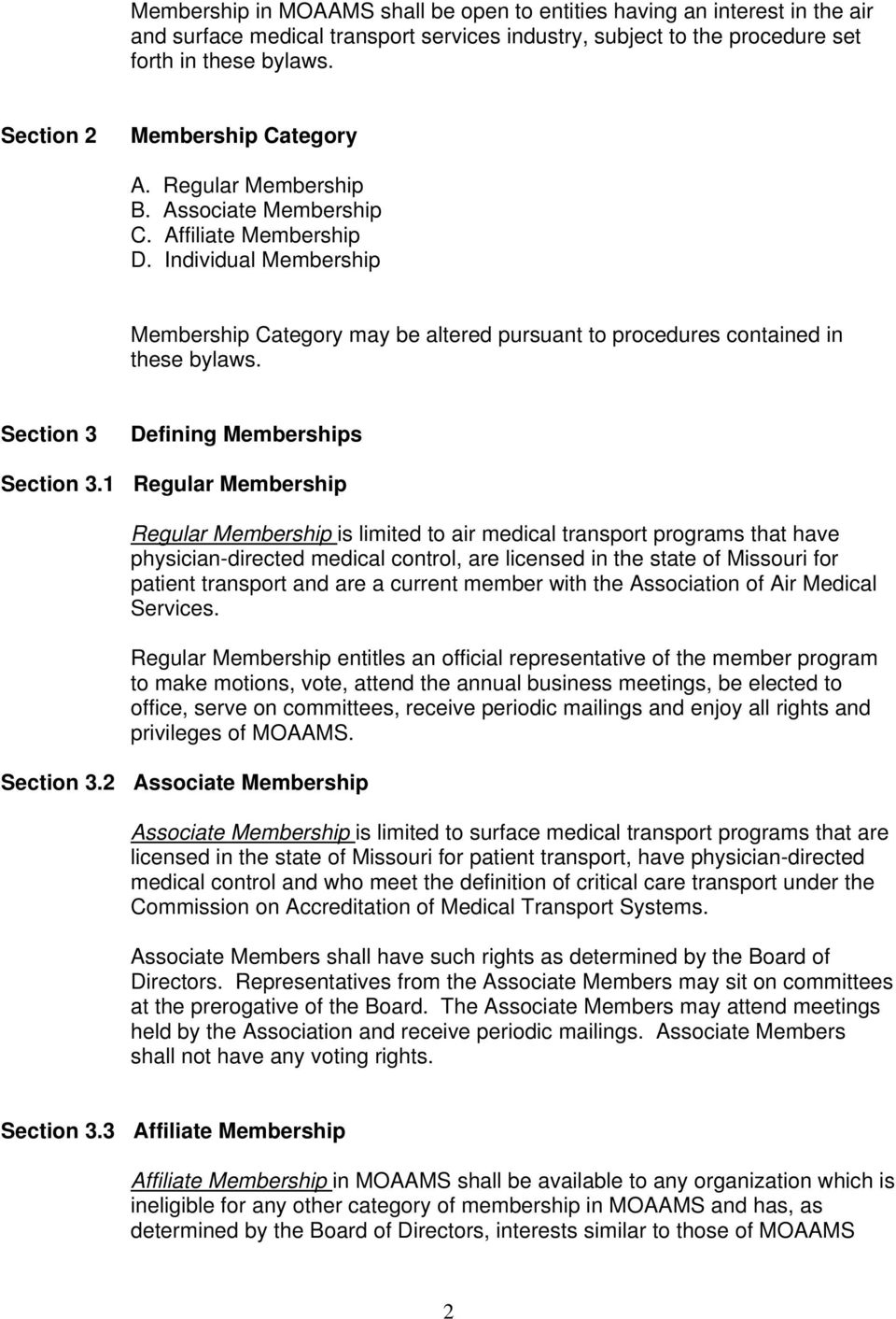 Section 3 Defining Memberships Section 3.
