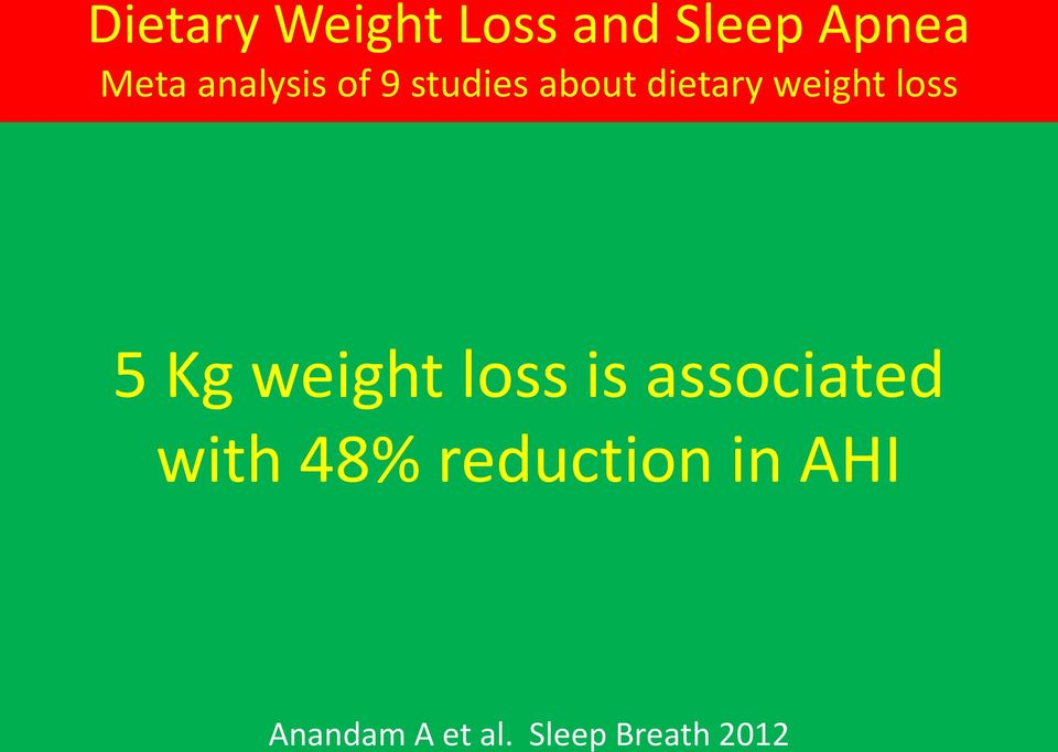 loss 5 Kg weight loss is associated with 48%
