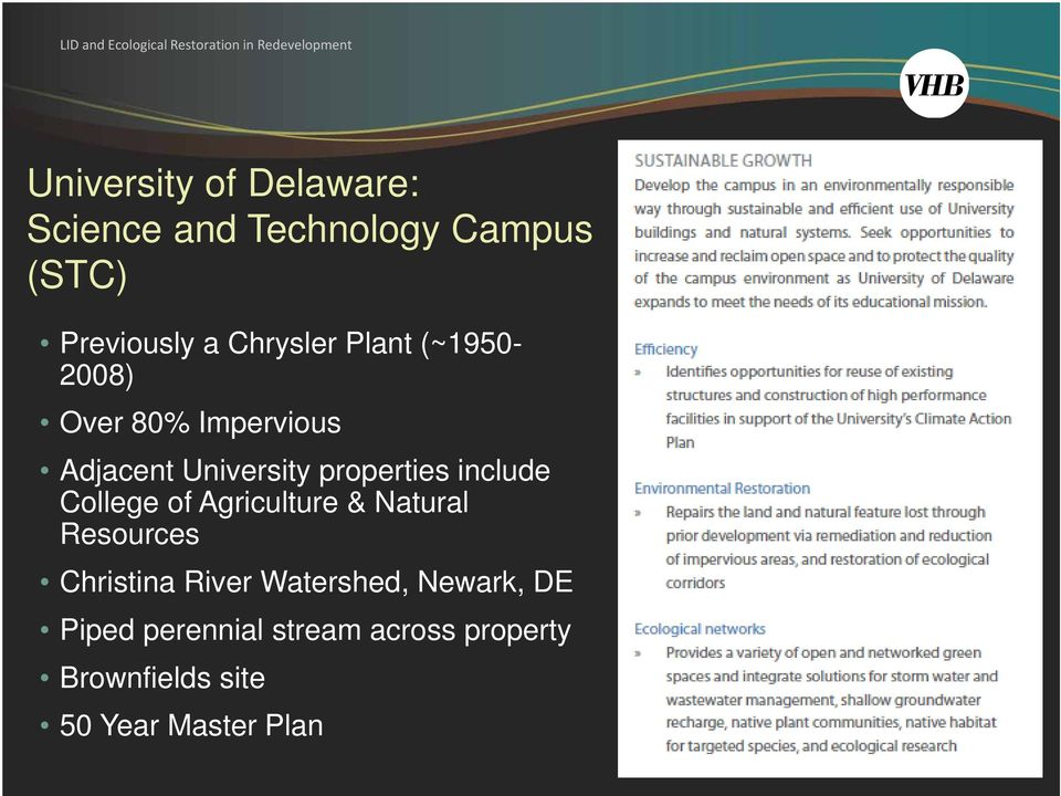 include College of Agriculture & Natural Resources Christina River Watershed,