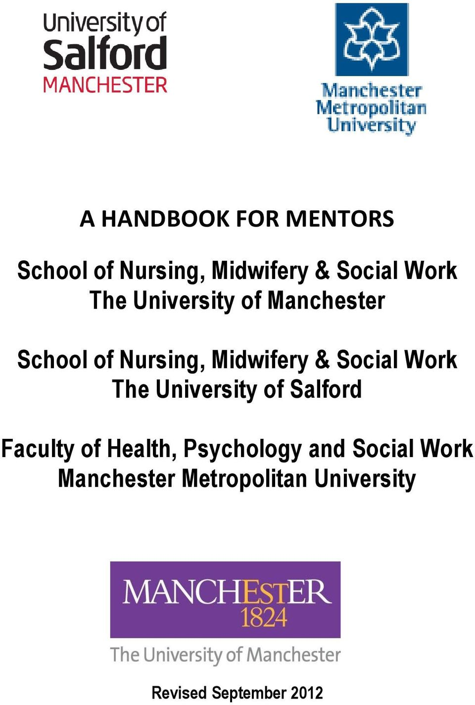 Work The University of Salford Faculty of Health, Psychology and