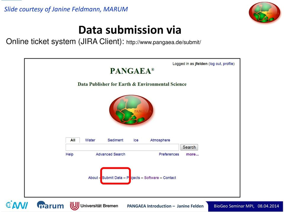 Client): http://www.pangaea.