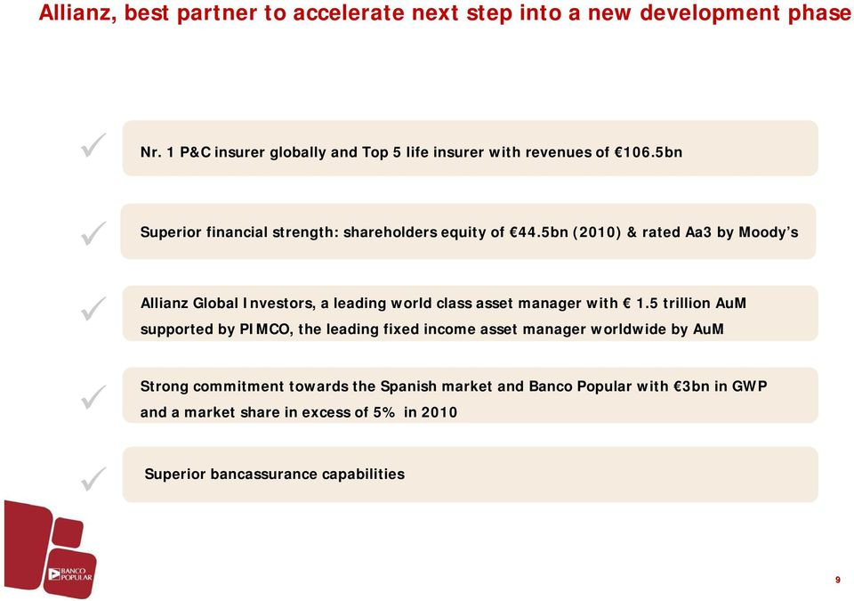 5bn (2010) & rated Aa3 by Moody s Allianz Global Investors, a leading world class asset manager with 1.