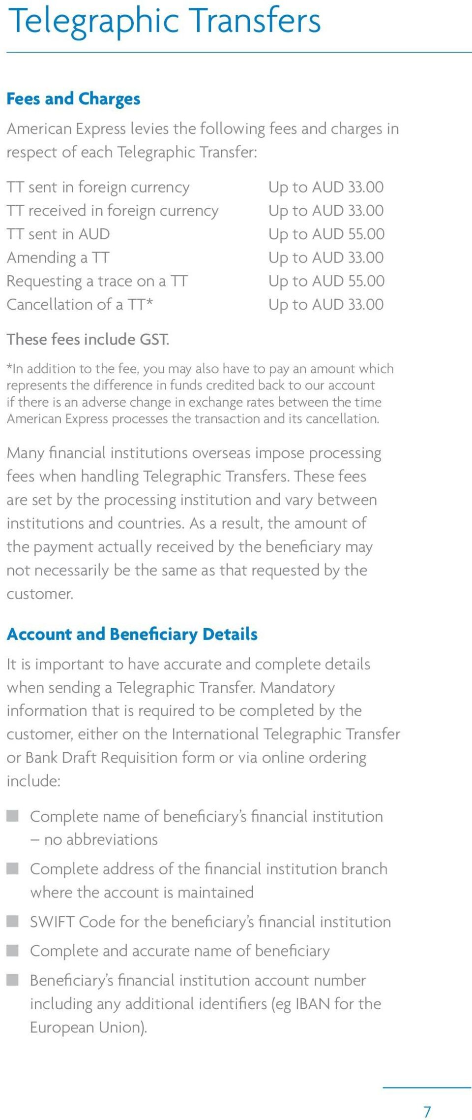 00 These fees include GST.