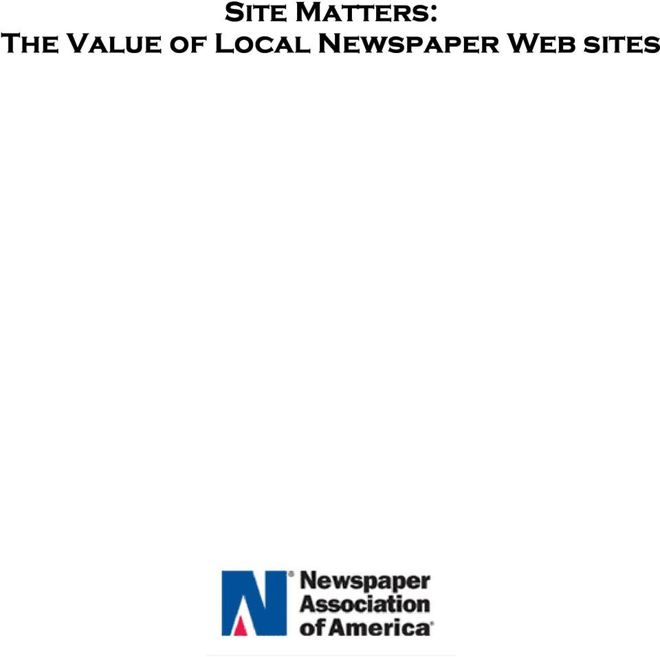 of Newspaper Web sites