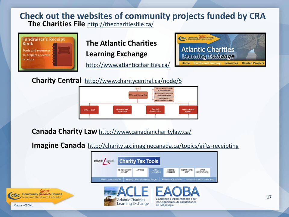 atlanticcharities.ca/ Charity Central http://www.charitycentral.