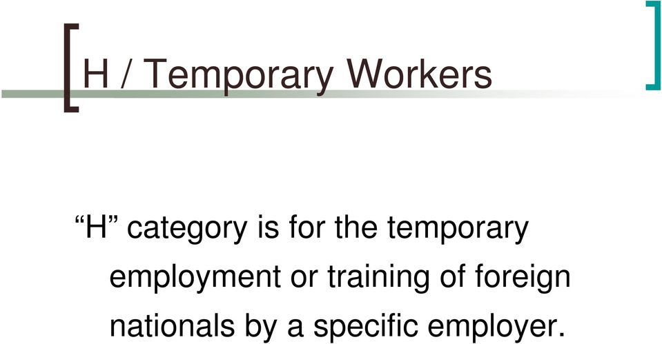 employment or training of
