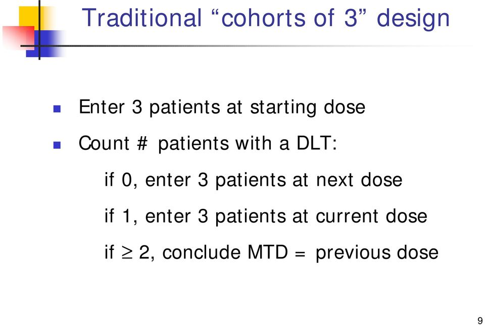 enter 3 patients at next dose if 1, enter 3