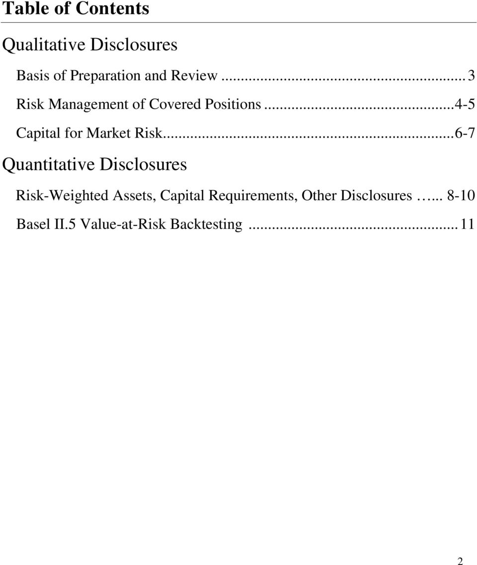 .... 6-7 Quantitative Disclosures Risk-Weighted Assets, Capital