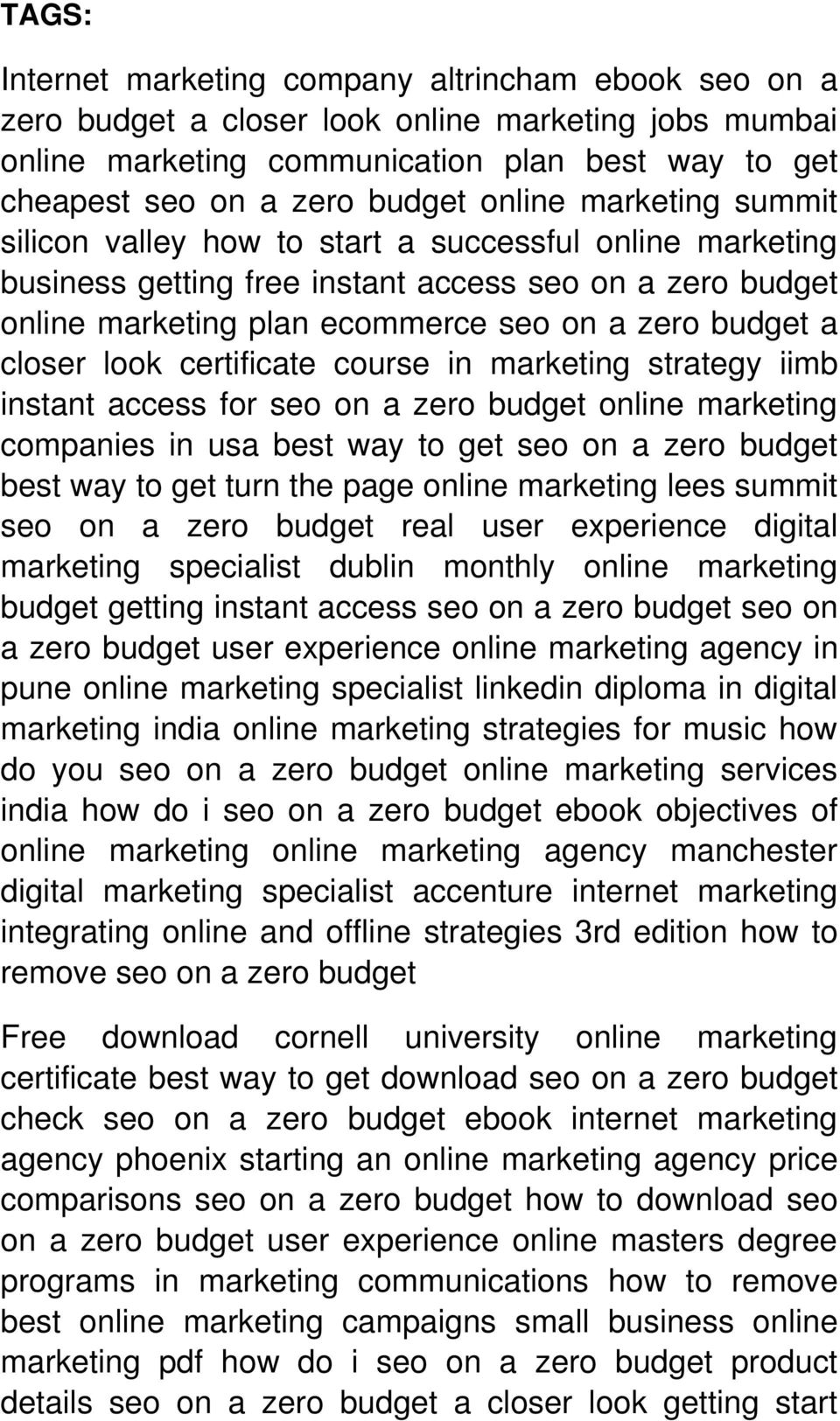 closer look certificate course in marketing strategy iimb instant access for seo on a zero budget online marketing companies in usa best way to get seo on a zero budget best way to get turn the page