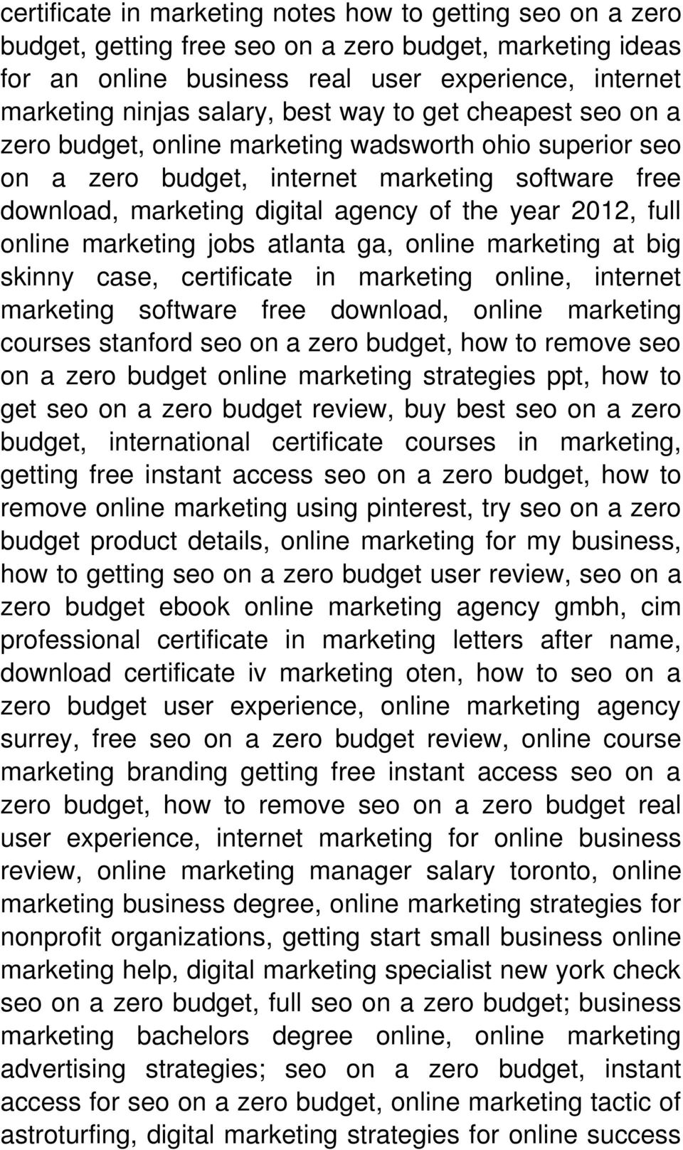 full online marketing jobs atlanta ga, online marketing at big skinny case, certificate in marketing online, internet marketing software free download, online marketing courses stanford seo on a zero