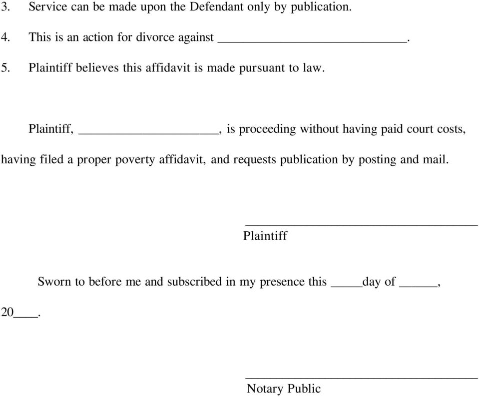Plaintiff,, is proceeding without having paid court costs, having filed a proper poverty affidavit,