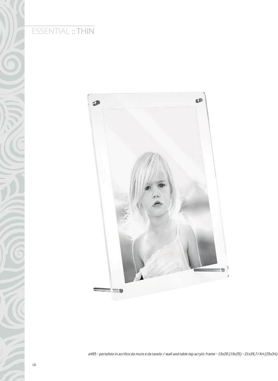 wall and table top acrylic frame -