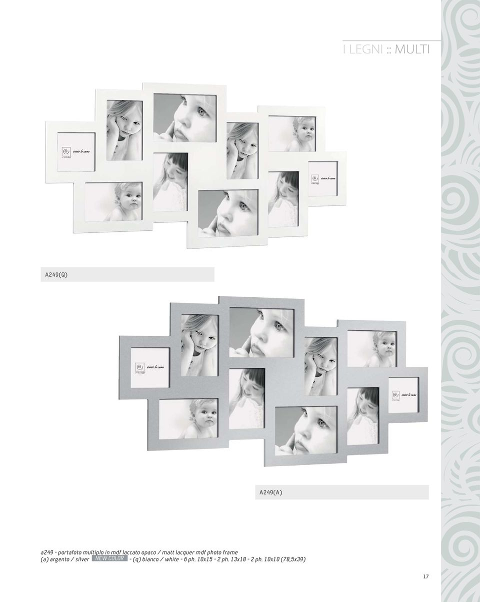 photo frame (a) argento / silver NEW COLOR - (q)