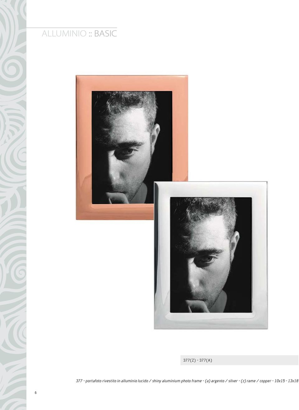 shiny aluminium photo frame - (a) argento