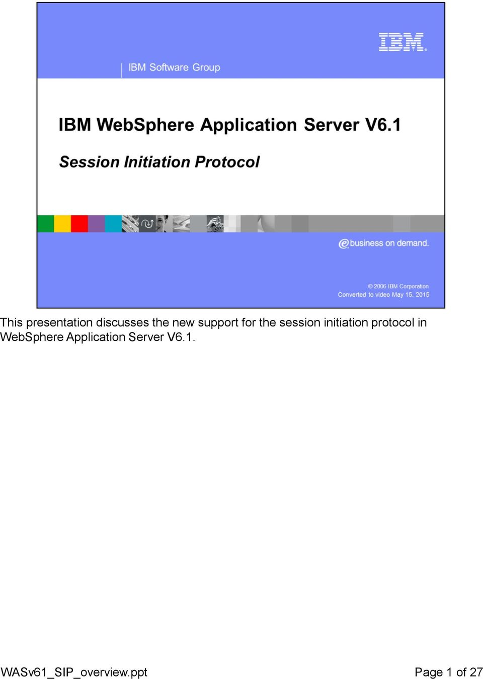 protocol in WebSphere Application