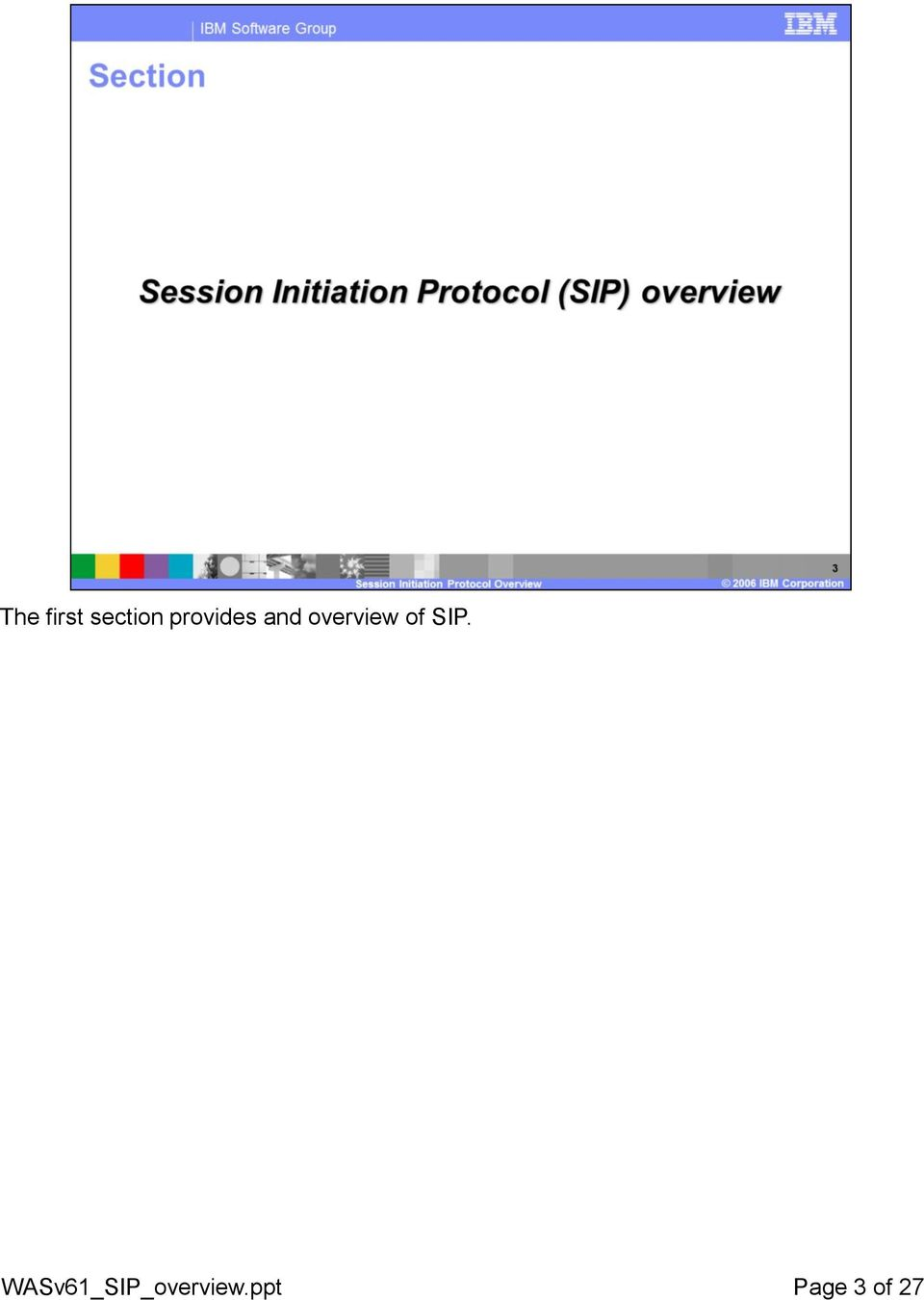 overview of SIP.