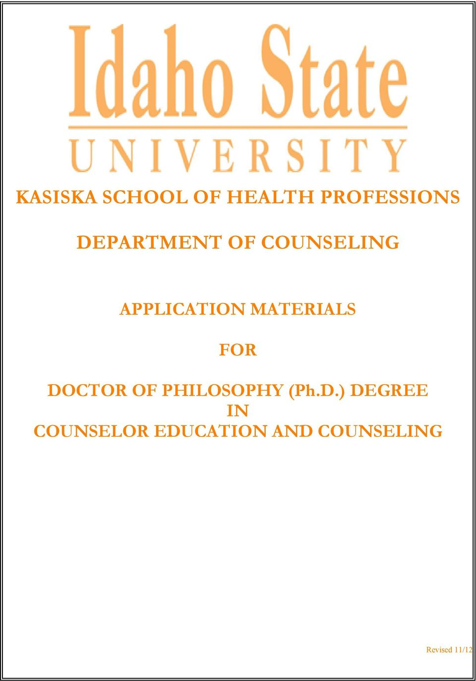 DEGREE IN COUNSELOR