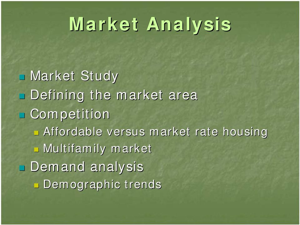 versus market rate housing Multifamily