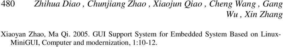 2005. GUI Support System for Embedded System Based