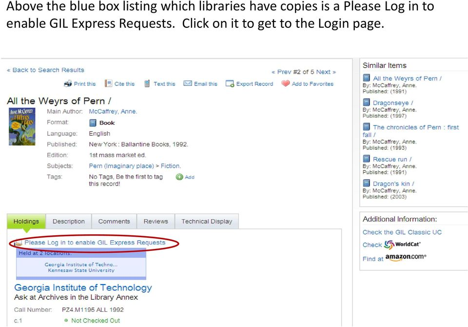 Log in to enable GIL Express