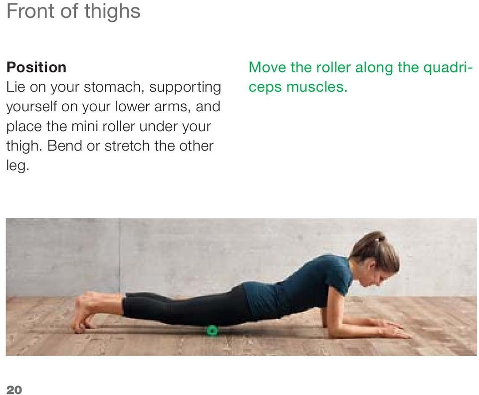 roller under your thigh.